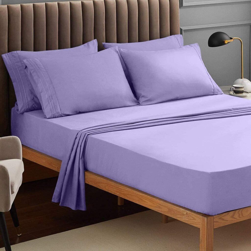 Lavender Fitted Sheets Deep Pocket