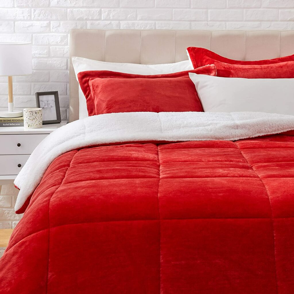 Fleece Queen Comforter Set
