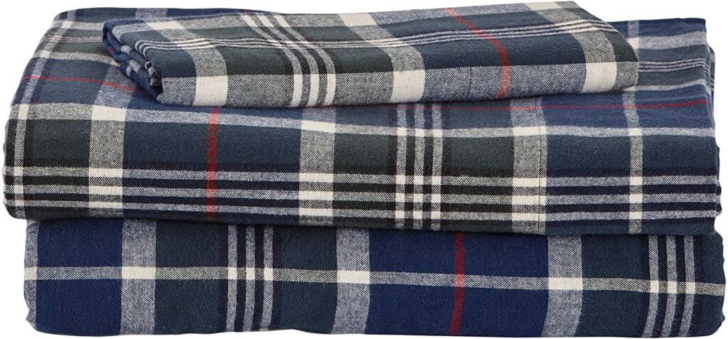 Cotton Plaid Twin Sheet Set